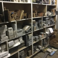 Materials samples at Future Green Studio, Brooklyn, New York, 2016