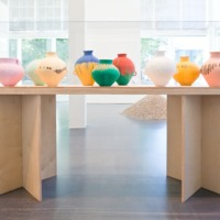 Ai Weiwei: Dropping the Urn (Ceramic Works, 5000 BCE – 2010 CE), installation view