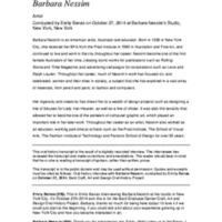 Barbara Nessim - BGC Oral History Project.pdf