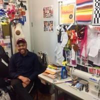 Christopher John Rogers in his bedroom studio, Bedford-Stuyvesant, 2018. Photo by Jaime Ding.