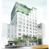 Conceptual drawing, 345 Meatpacking, Manhattan, New York, 2013.