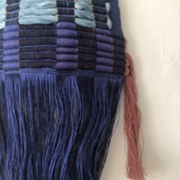 Detail of woven work by Carolina Jimenez, April 2021. Photo by Jessie Young.