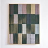 """Bajo la Jacaranda, 47""""x 36"""", cotton, silk, linen, and natural dyes. Photo by ???"""